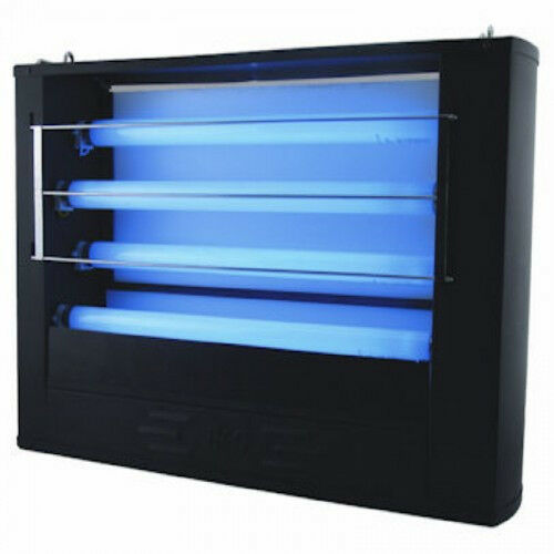 restaurant uv fly light trap 100 watts all metal black b g. Black Bedroom Furniture Sets. Home Design Ideas