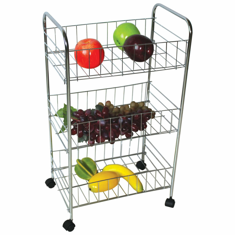 vegetable storage trolley kitchen 3 tier kitchen vegetable fruit food rack storage trolley 6755