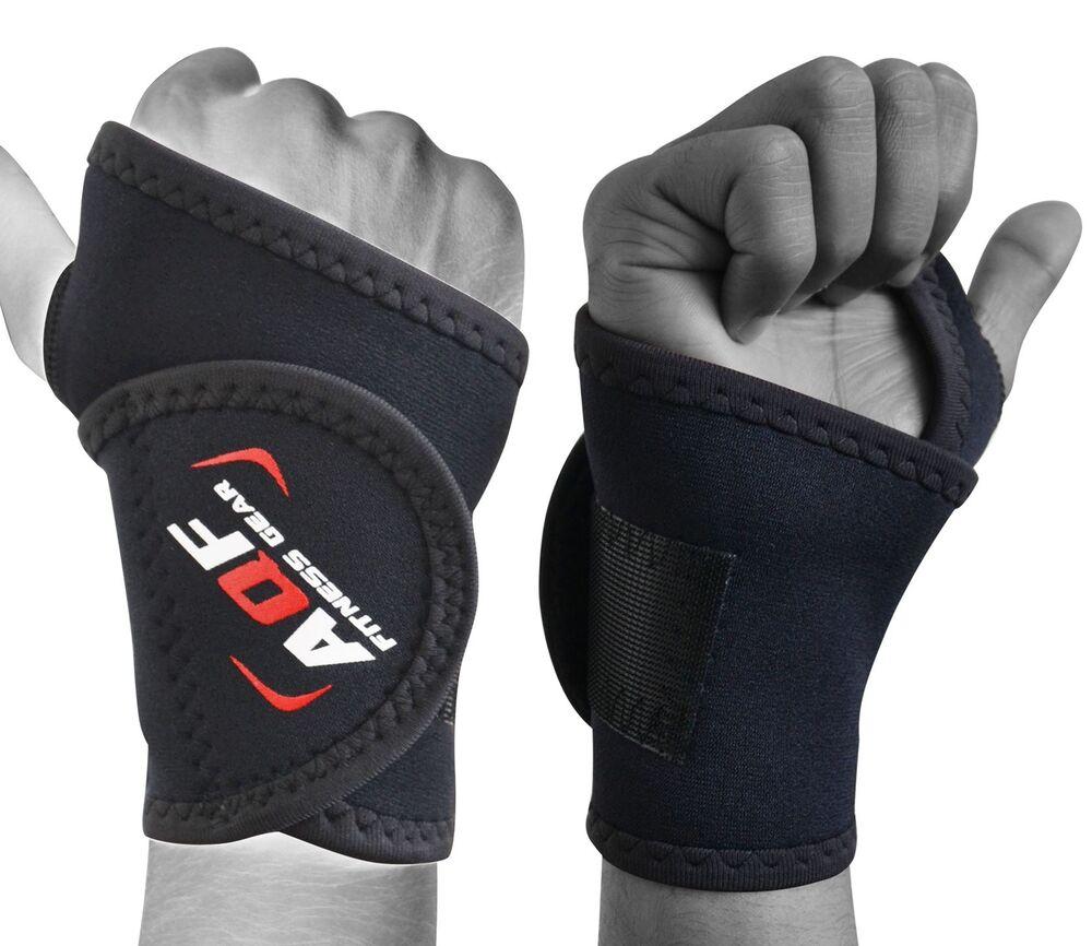 Neoprene Weight Lift Training Workout Gym Palm Exercise: AQF Neoprene Wrist Support Brace Palm Gym Weight Lifting
