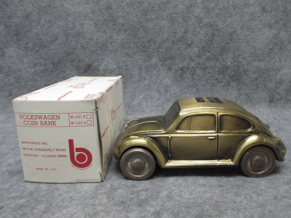 banthrico 1974 car coin bank bronze finish 1977 volkswagen. Black Bedroom Furniture Sets. Home Design Ideas