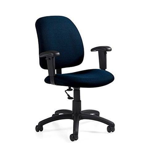 Global Goal 2237 6 Fabric Low Back Office Task Chair Adjustable Arms EBay