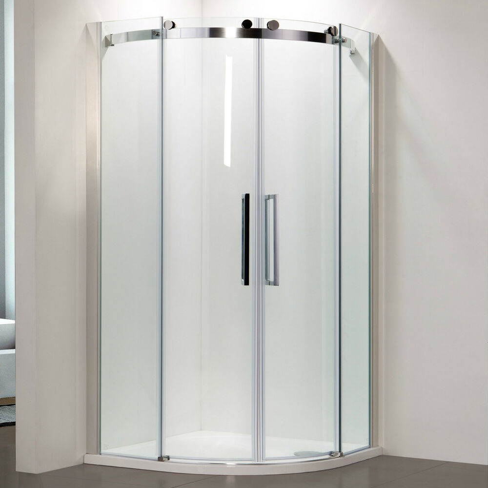 Frameless quadrant sliding door shower enclosure 8mm easy for Window quadrant