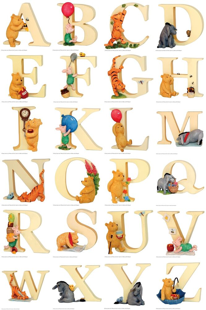 winnie the pooh alphabet letter a to z figurines pooh tiger clipart free tiger clipart images