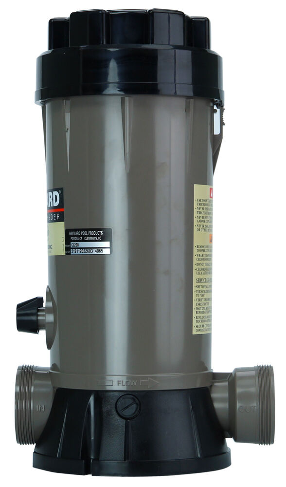 Hayward Cl200 In Ground Swimming Pool In Line Chemical Chlorine Feeder Cl 200 Ebay
