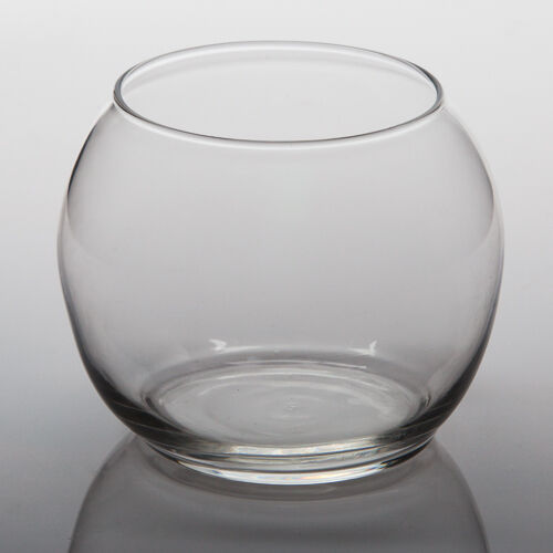 Set Of 6 Glass Bubble Bowl Vases 4 5 Inch Diameter Great