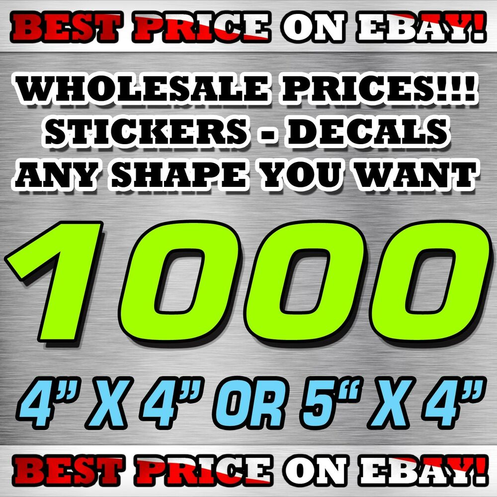 Details about 1000 custom stickers 4x 4 or 5x 4 decals election political best price