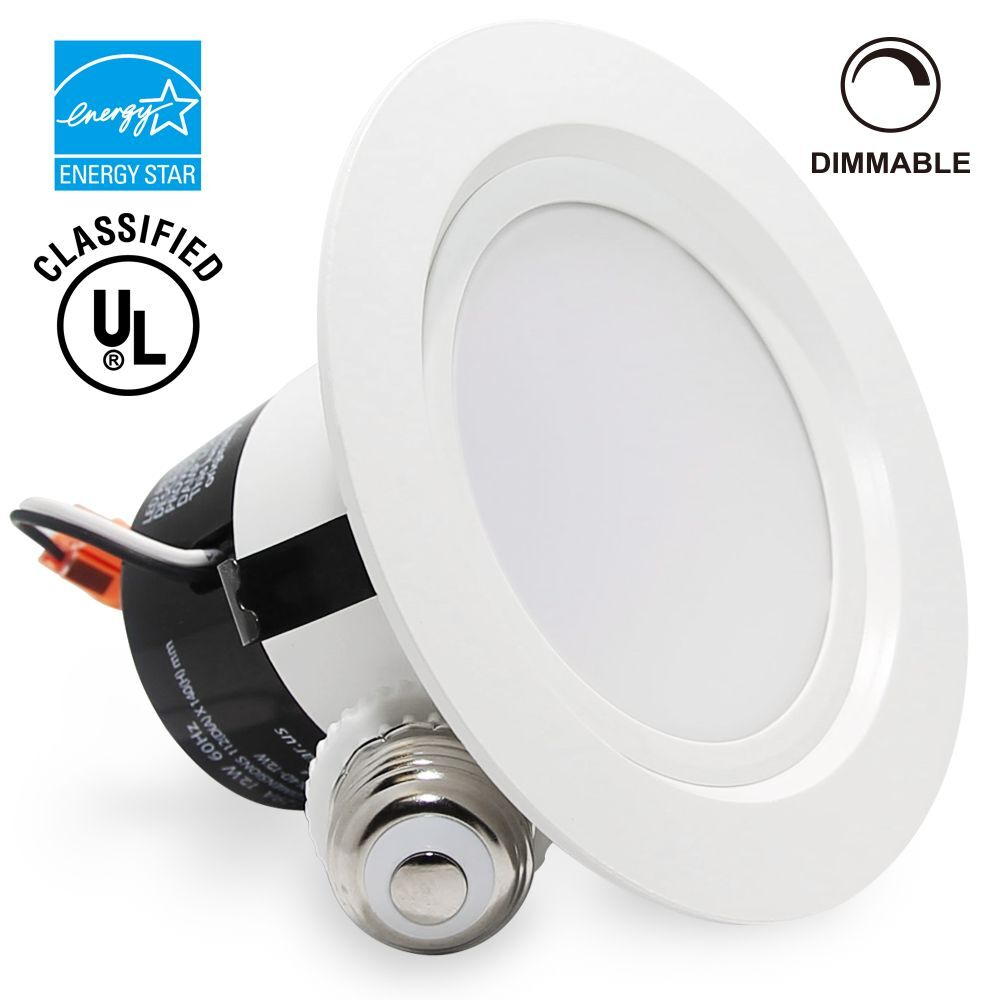 12watt 4inch dimmable retrofit led recessed lighting fixture ebay