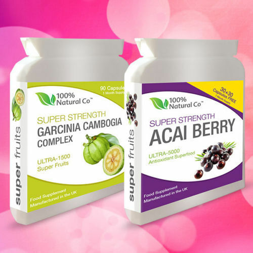 DOUBLE VALUE PACK! Acai Berry and Garcinia Cambogia Fruit Weight Loss Diet Pills