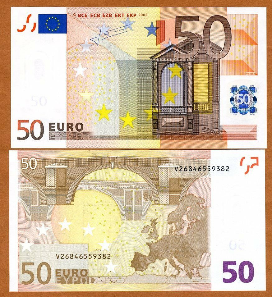European union spain 50 euro p 11v 2002 unc ebay for Cuisine 7000 euros