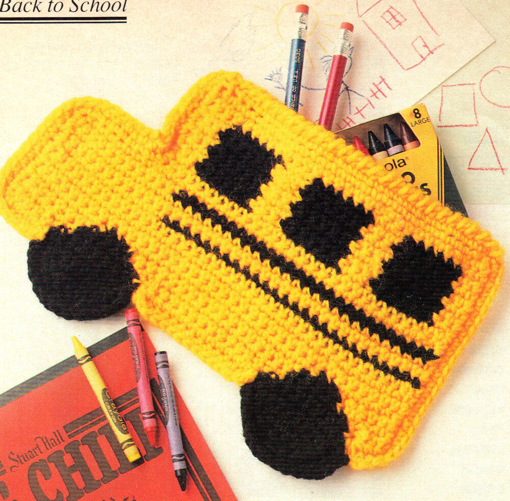 BACK TO SCHOOL Bus Pencil Case/Toy/ Crochet Pattern INSTRUCTIONS ONLY ...