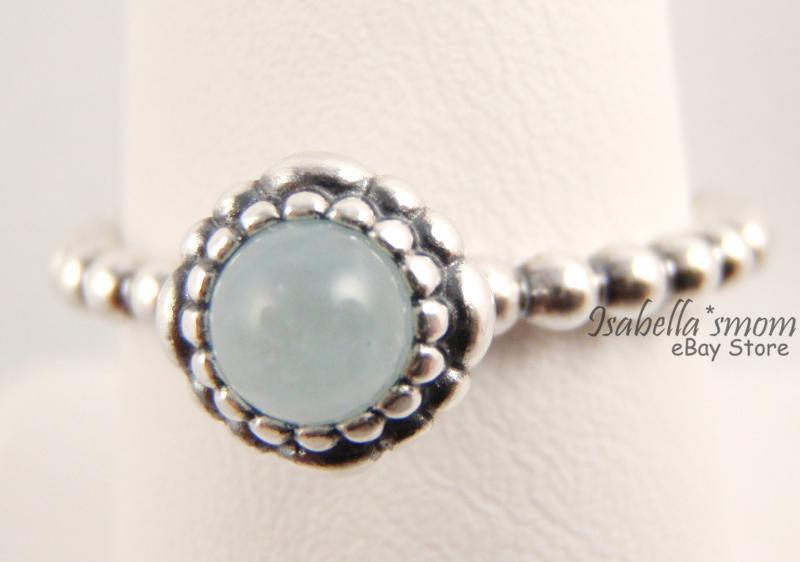 March Birthday Blooms Authentic Pandora Silver Blue