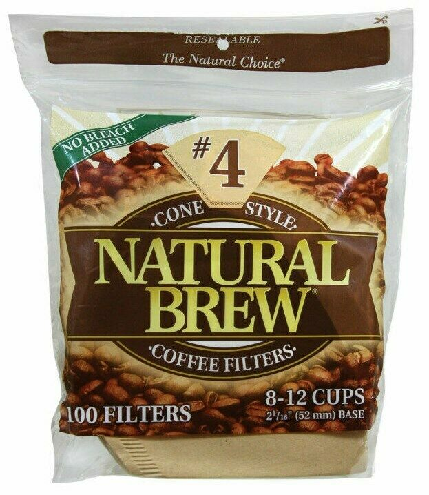 Best Coffee Maker With Paper Filter : Cone Style BROWN #4 COFFEE MAKER FILTERS 8 10 12 cup CoffeeMaker NATURAL BREW eBay