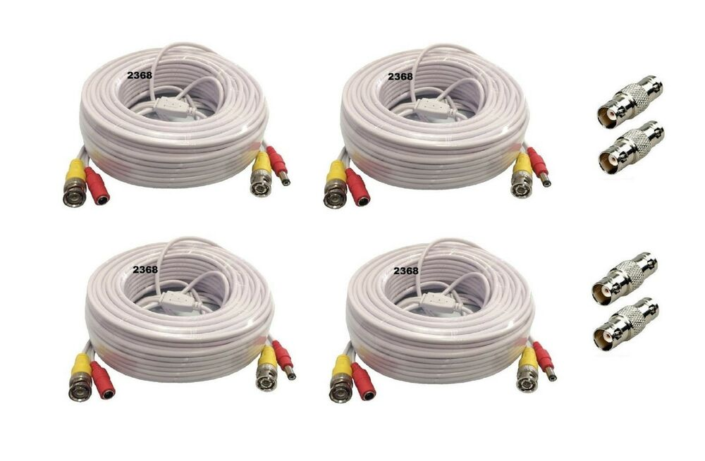 Premium Quality 4 X 100ft Video Power Bnc Rca Cable For