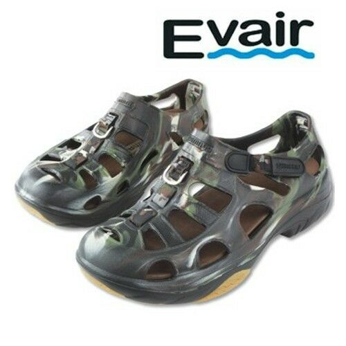 Shimano evair marine fishing shoes mens size 12 camo for Mens fishing sandals