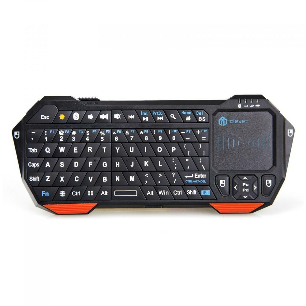 Wireless Mini Bluetooth Keyboard With Touchpad F/ Windows Android IOS PC Backlit | eBay