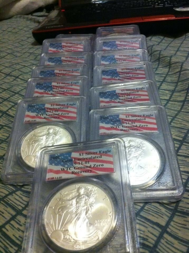 2001 Pcgs Wtc Recovery 1 Of 1440 American Silver Eagle
