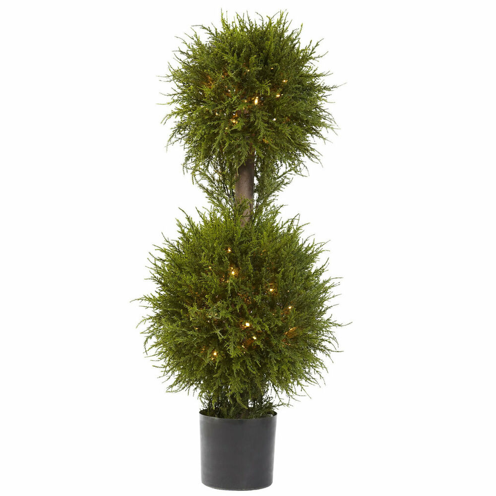 "40"" ARTIFICIAL INDOOR OUTDOOR FAKE CEDAR DOUBLE BALL ..."