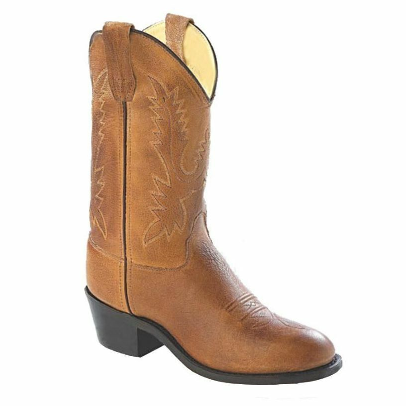 new boy west leather western cowboy boots brown