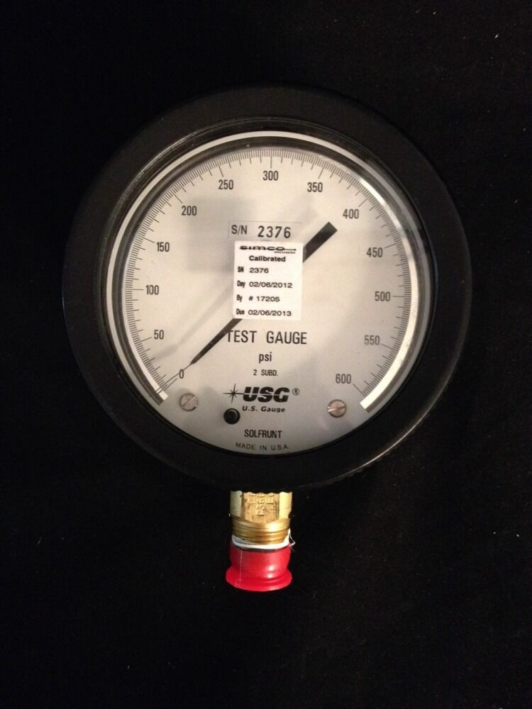 USG U.S. Gauge Test Gauge 0-600psi 43175-1081 Great ...