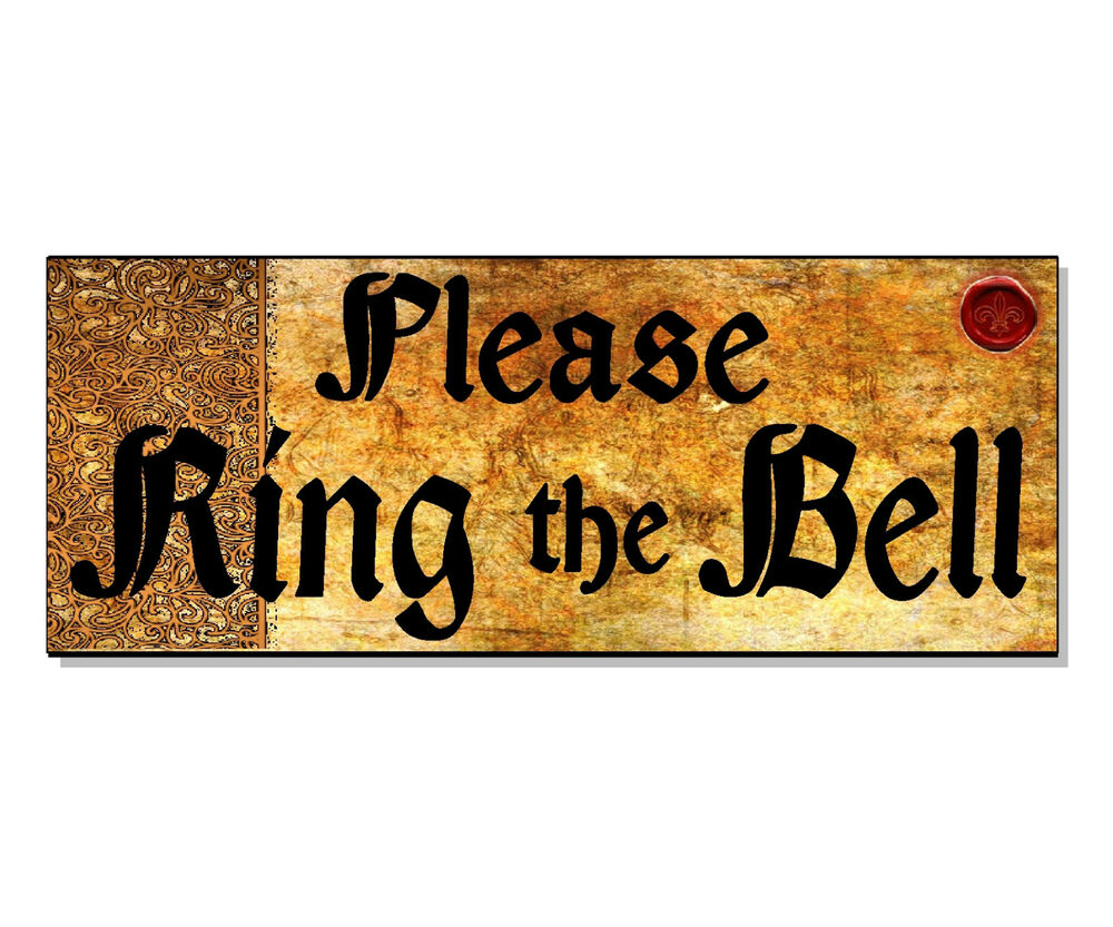 Please Ring The Bell Vintage Old Sign Plaque Front House Door Wall Gate Outdoor Ebay