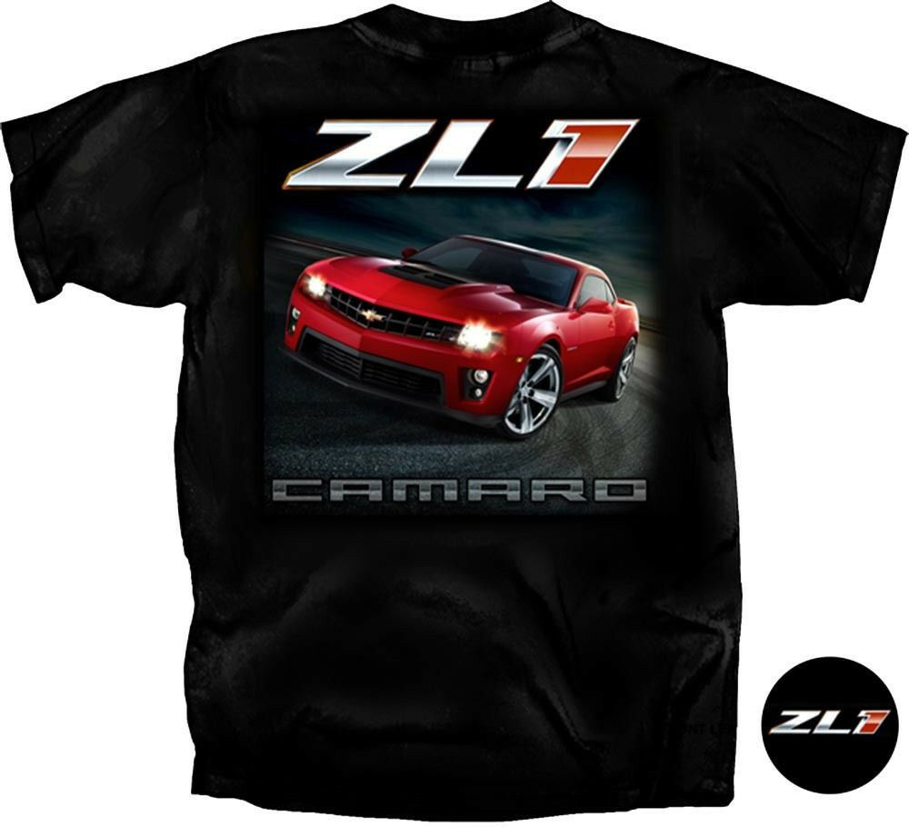chevy camaro t shirt zl1 gm black tee ebay. Black Bedroom Furniture Sets. Home Design Ideas