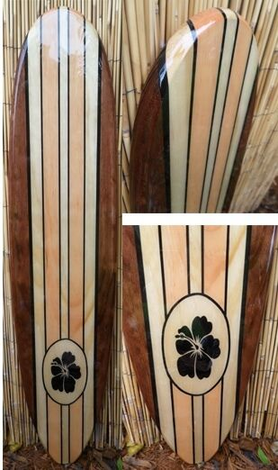 Tropical Decorative Wood Surfboard Wall Art For A Coastal