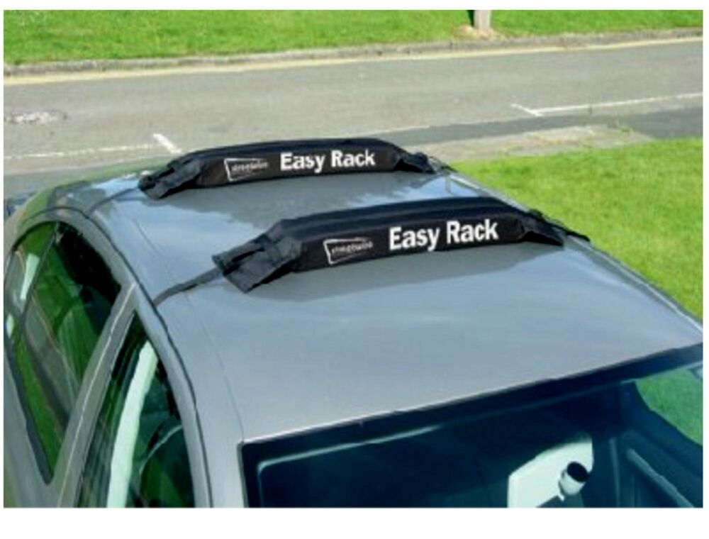 Easy Fit Roof Rack System Soft Cushion Roof Bars Strap On