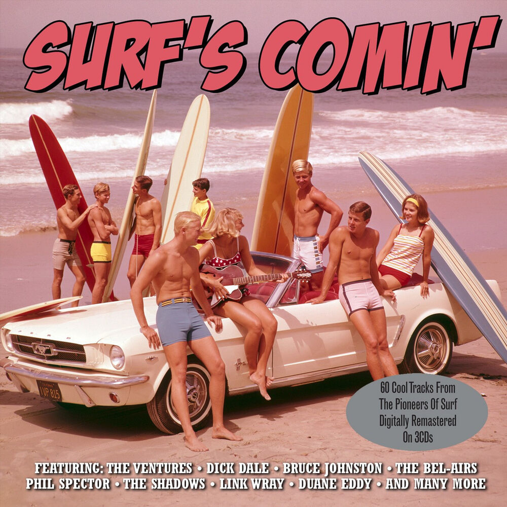 1960s Surf Trips Down South: Surf's Comin' VARIOUS ARTISTS Best Of 75 Surf Rock Songs