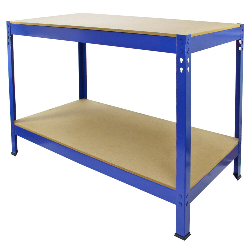 Garage Workbench Diy Garden Work Tool Bench Heavy Duty Steel Workbenches Shed Ebay