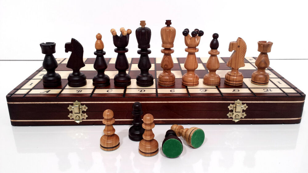 Quality president wooden chess set 45x45 hand crafted for Hand crafted chess set