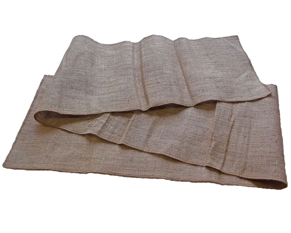 12 burlap table runner 30 feet serged ebay