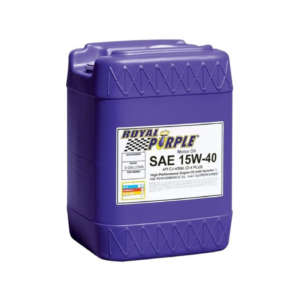 royal purple 05154 sae 15w 40 rp series synthetic oil 5 gallon pail ebay. Black Bedroom Furniture Sets. Home Design Ideas