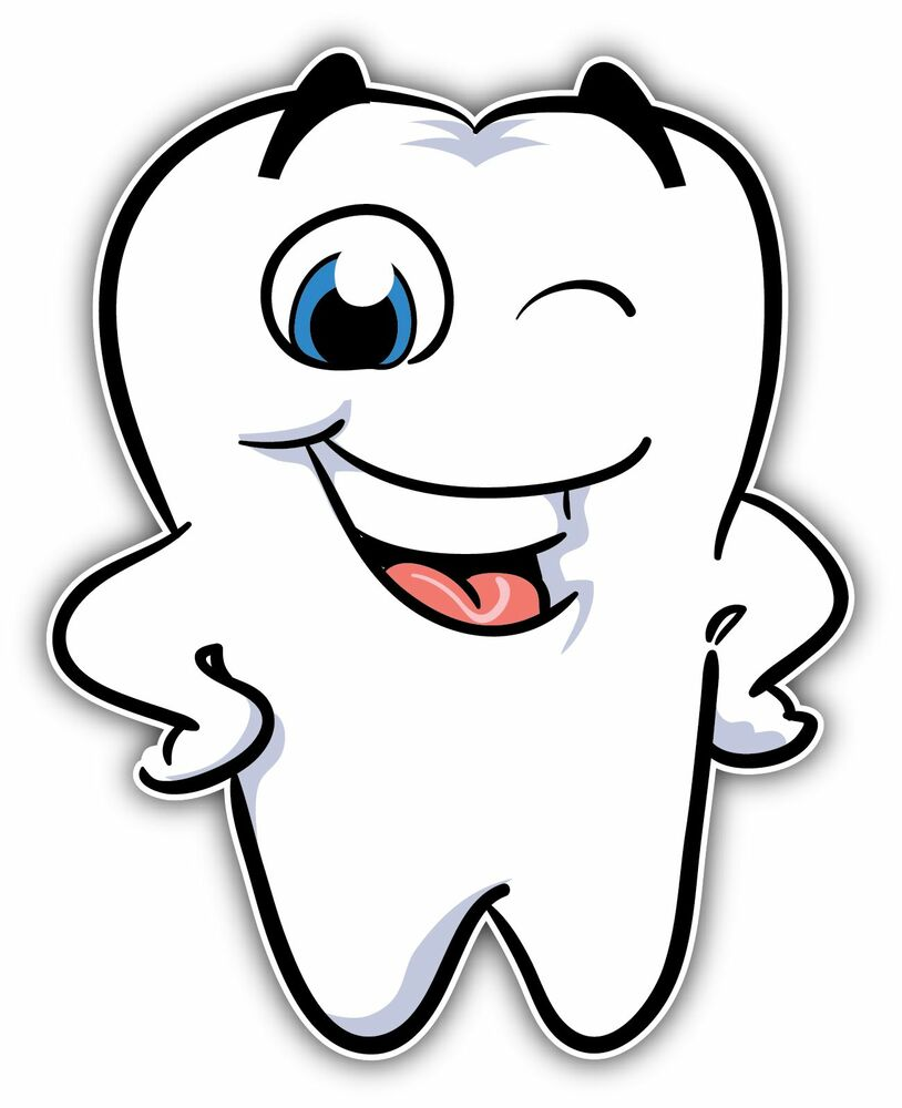 Smiling Teeth Dental Dentists Car Bumper Window Sticker