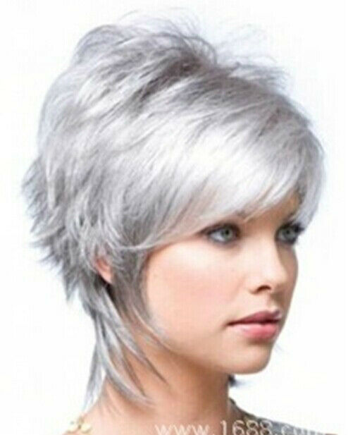 new sexy hair style style fashion wig new charm s silver gray 7706 | s l1000