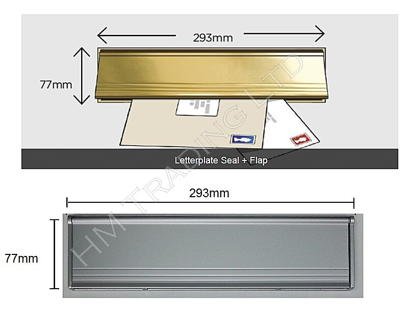 pvc door metal letter box plate seal flap cover brush internal draught excluder letter box cover