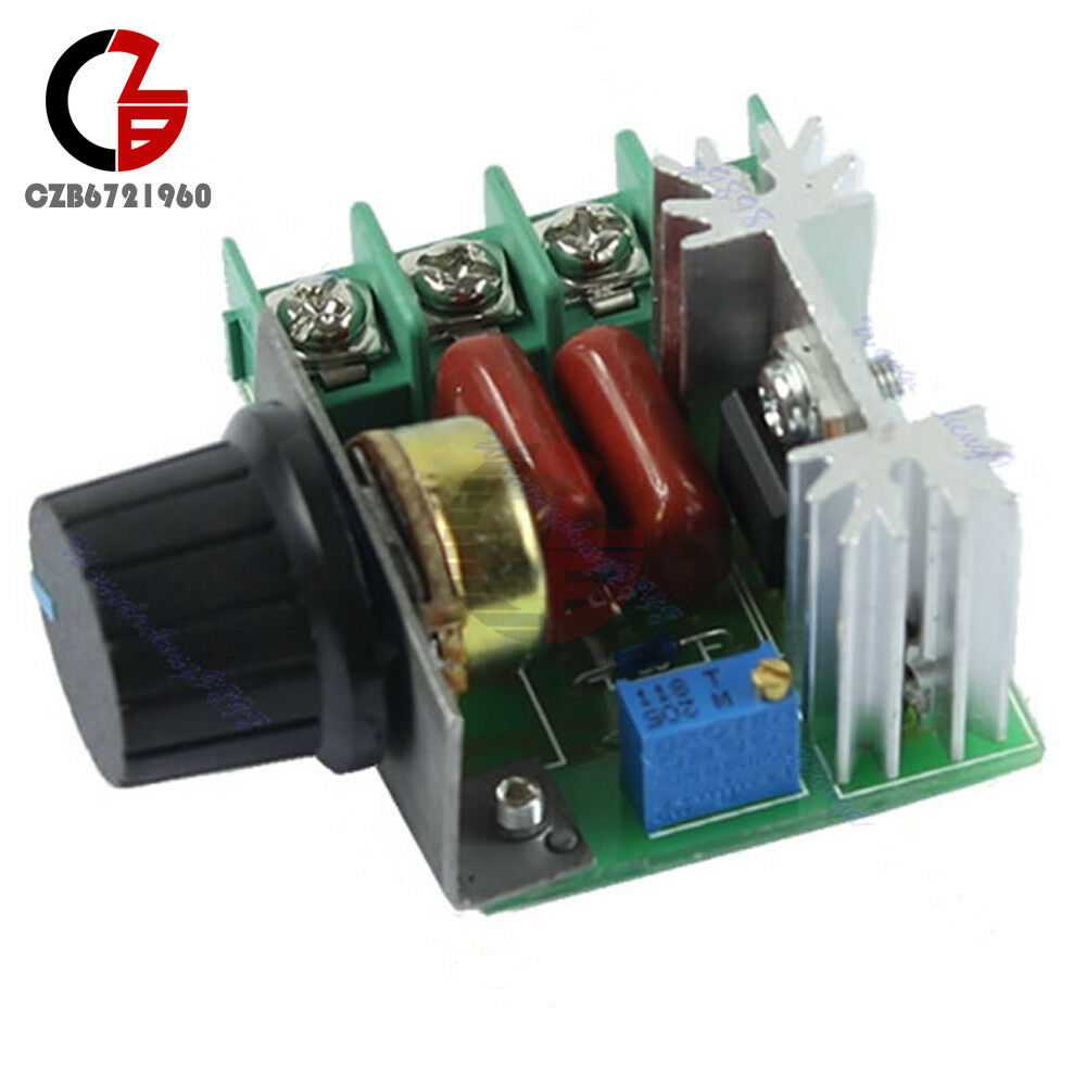 2000w 220v ac scr electric voltage regulator motor speed for Rheostat motor speed control