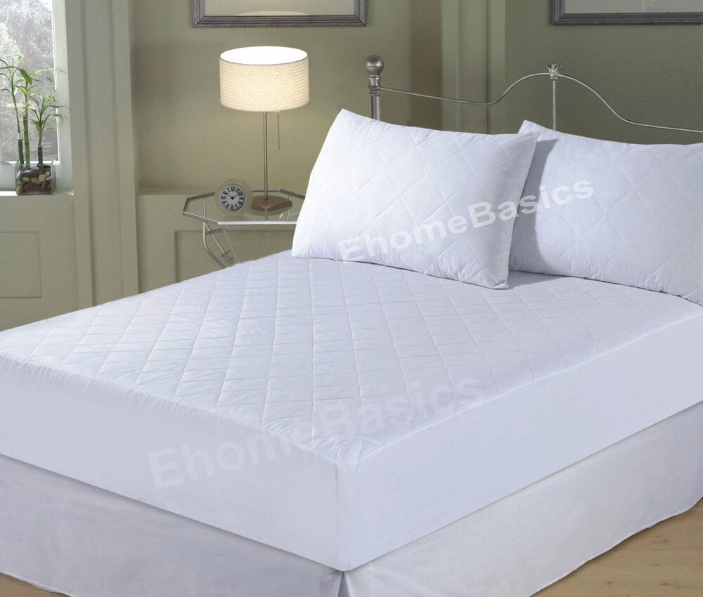 Mattress Protector Quilted Fitted Mattress Cover 4ft
