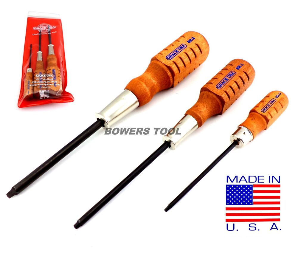 grace usa 3pc square robertson screwdriver set made in usa wood 0 1 2 ebay. Black Bedroom Furniture Sets. Home Design Ideas