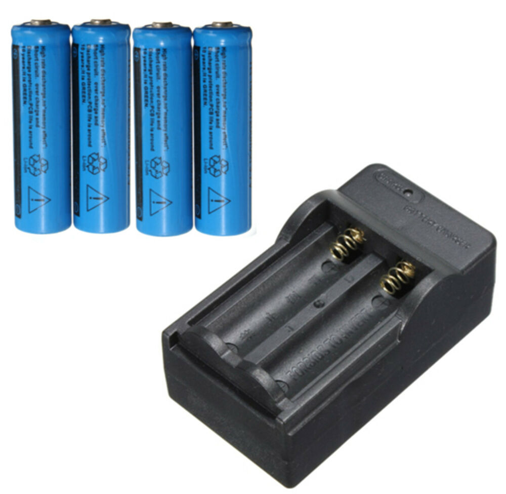 4pcs 1200mah 14500 aa li ion rechargeable battery charger for flashlight light ebay. Black Bedroom Furniture Sets. Home Design Ideas