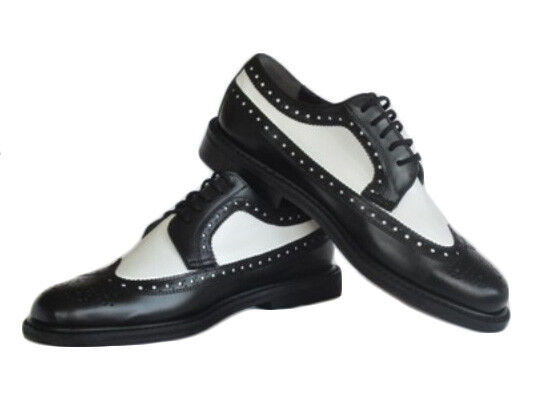 black and white wing tip dress shoes with thick soles ebay