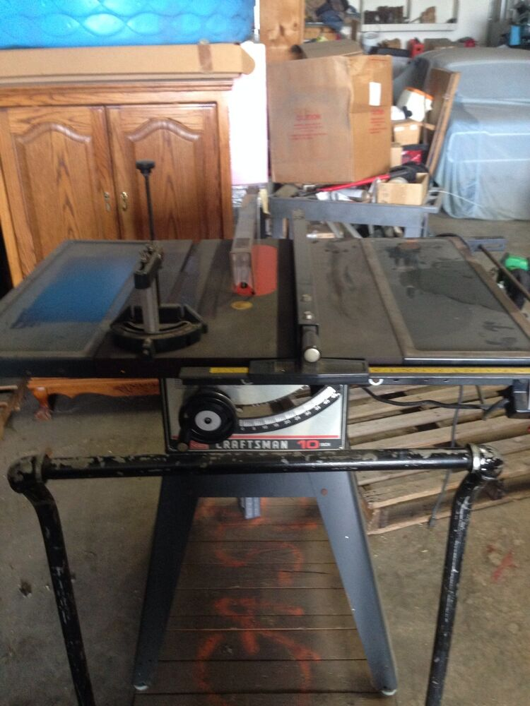 Sears Craftsman 3 Hp 10 Table Saw Ebay