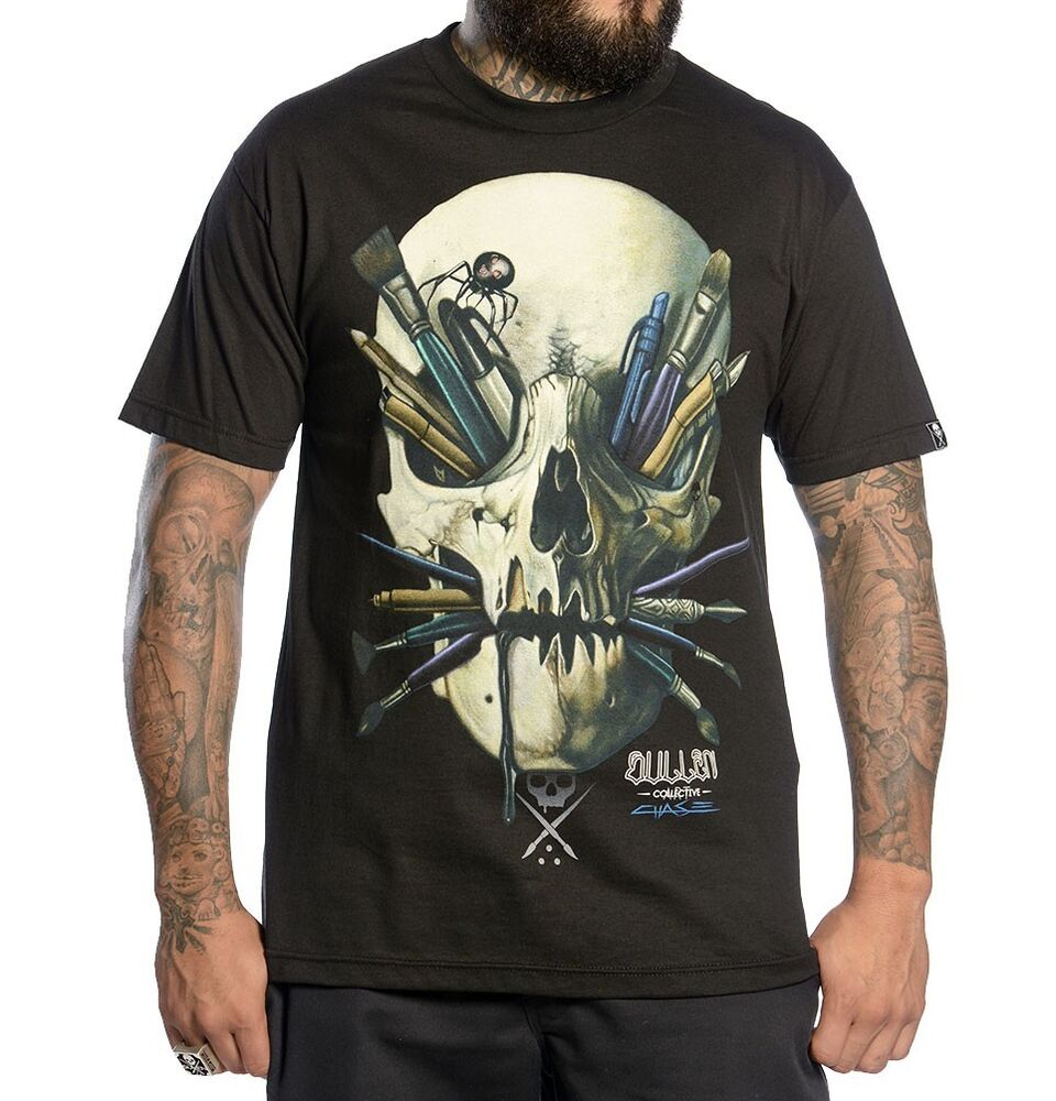 Sullen clothing chase black tattoo ink paint skull punk for Ebay tattoo ink