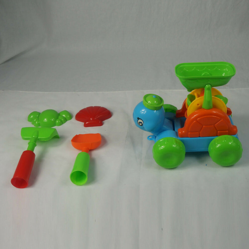 Toys For Sandbox : Beach turtle wheel sandbox shovel crab shell rake kids