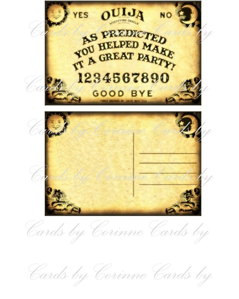 8 halloween ouija party thank you note post cards ebay. Black Bedroom Furniture Sets. Home Design Ideas