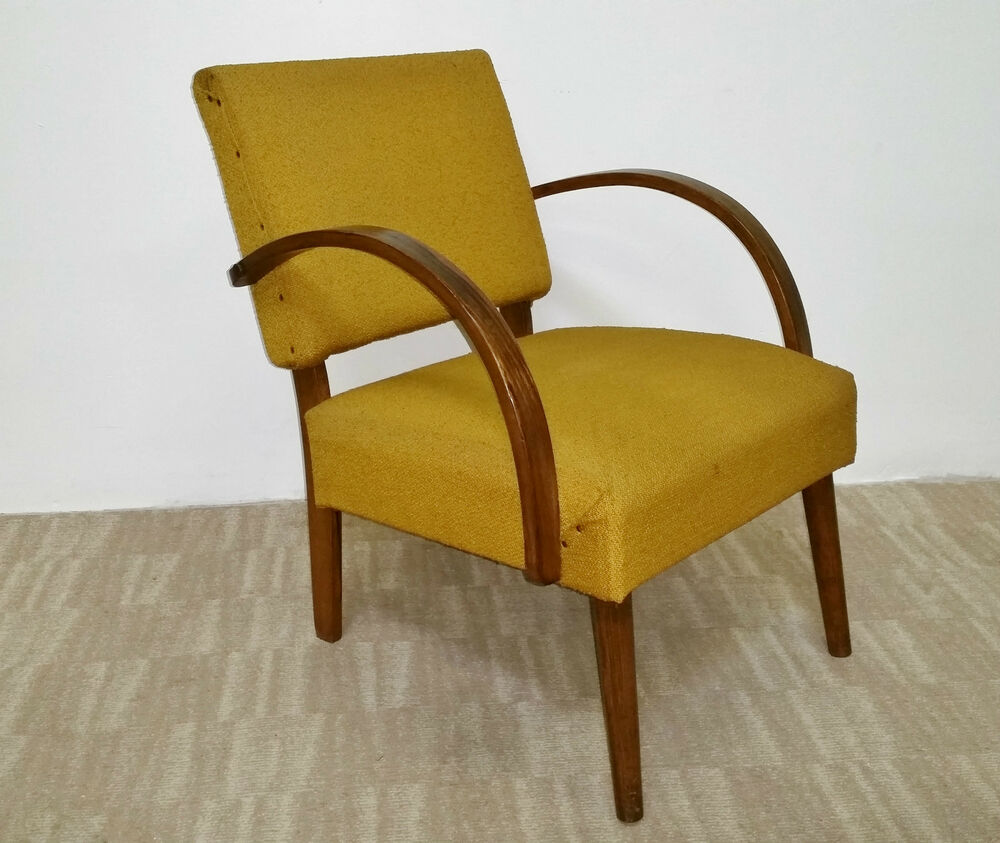 Mid century modern bent wood walnut arm chair ebay for Modern arm chair