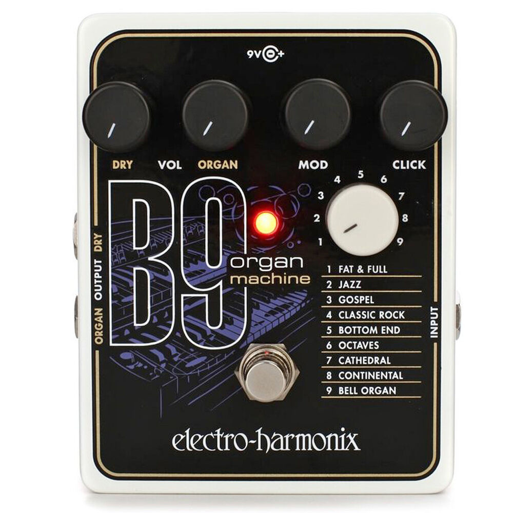 new ehx electro harmonix b9 organ machine simulator guitar effects pedal 683274011547 ebay. Black Bedroom Furniture Sets. Home Design Ideas