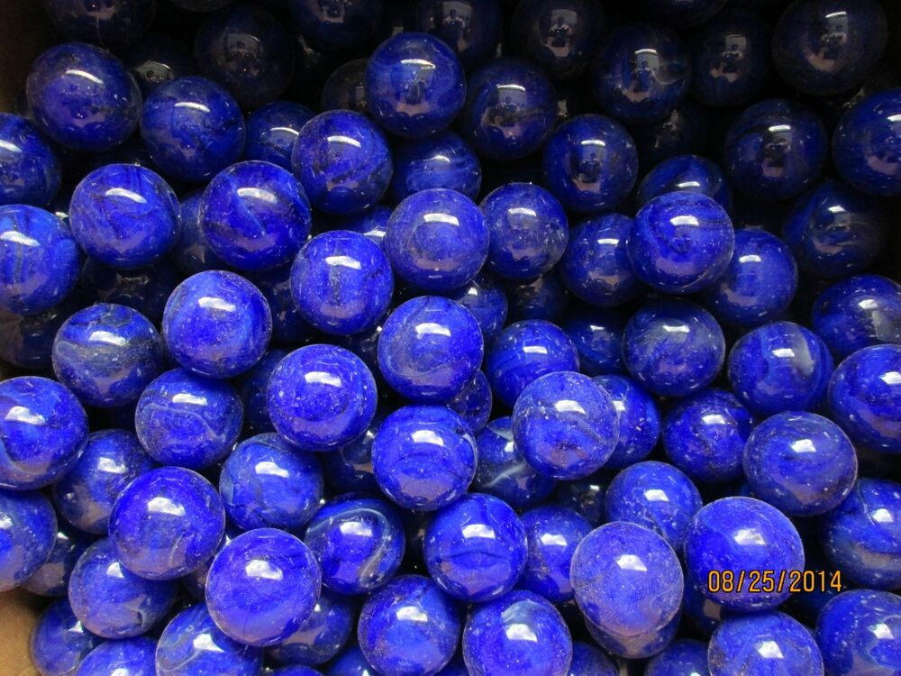 Bulk Colored Marbles : Bulk lot of one inch shooter marbles blue color mega