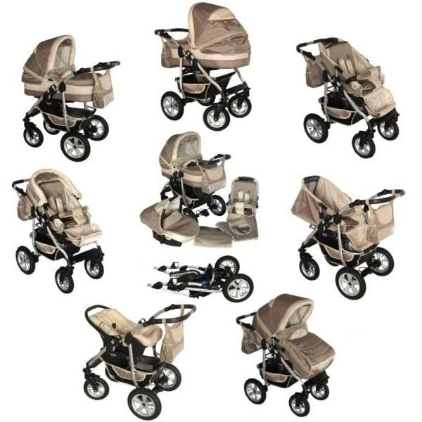 3in1 kombi kinderwagen coral beige neu ovp ebay. Black Bedroom Furniture Sets. Home Design Ideas