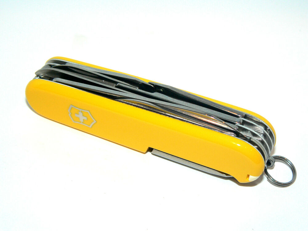 New Victorinox Swiss Army 91mm Knife Yellow Fieldmaster