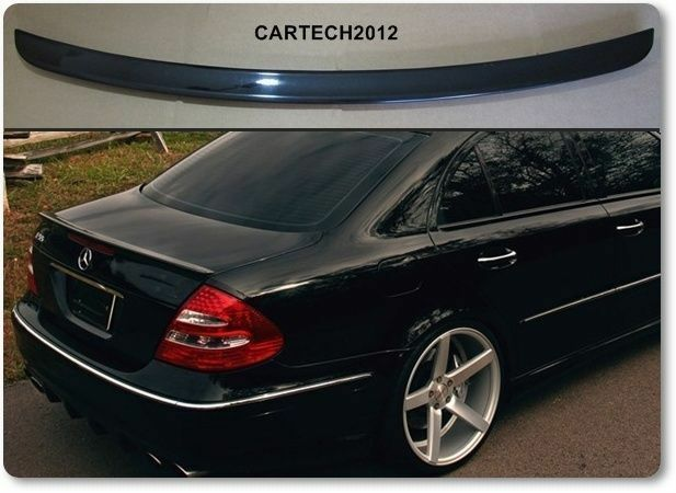 mercedes e class w211 rear boot spoiler tuning ebay. Black Bedroom Furniture Sets. Home Design Ideas